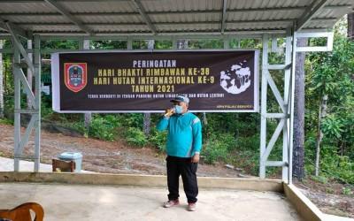 Peringatan Hari Bakti Rimbawan Ke-38 Hari Hutan Internasional ke-9 Tahun 2021